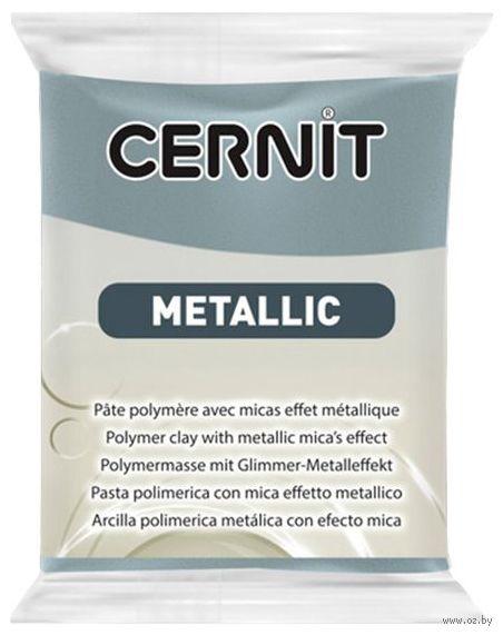 """Глина полимерная """"CERNIT Metallic"""" (сталь; 56 г) — фото, картинка"""