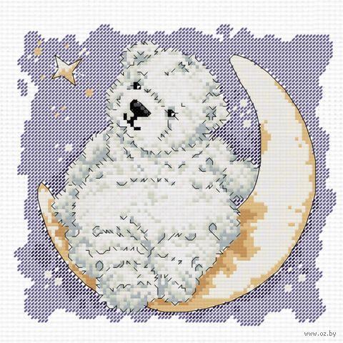 """Вышивка крестом """"Лунный мишка"""""""