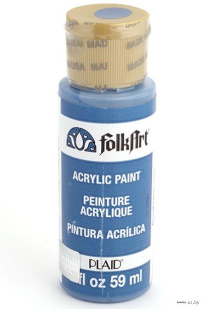 "Краска акриловая ""FolkArt. Acrylic Paint"" (голубая лента, 59 мл; арт. PLD-00719)"