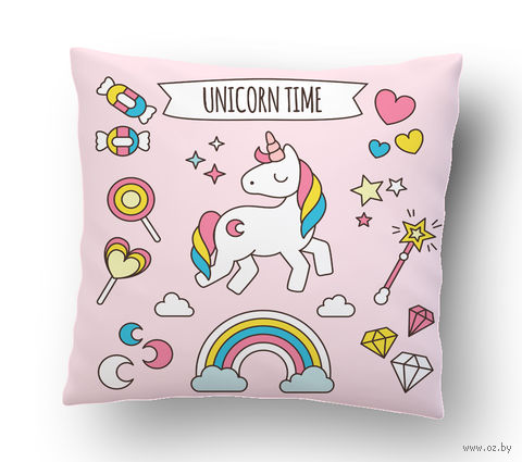 "Подушка маленькая ""Unicorn time"" (art.22)"