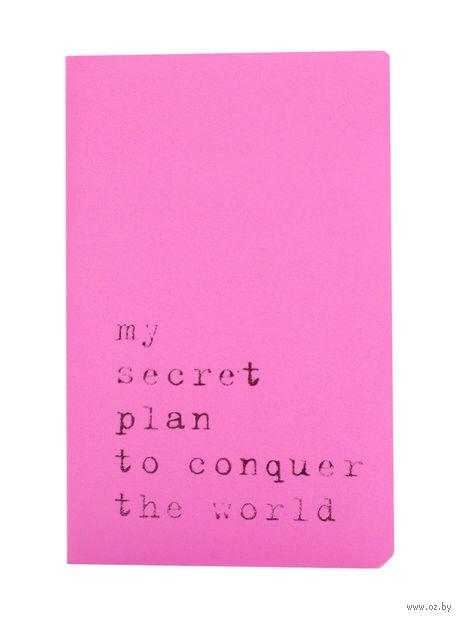 """Записная книжка в линейку """"Volant. My Secret Plan"""" (А6; светло-розовая)"""