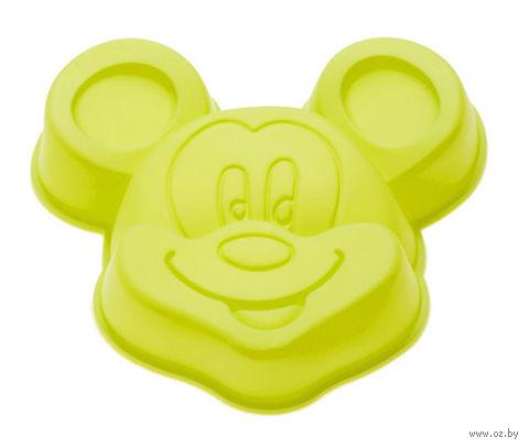 """Форма для выпекания силиконовая """"Микки"""" (140х130x30 мм; зеленая) — фото, картинка"""