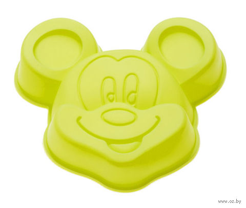 """Форма для выпекания силиконовая """"Микки"""" (140х130x30 мм; зеленый) — фото, картинка"""