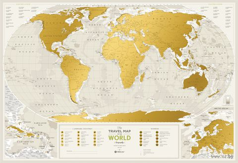 "Скретч-карта ""Geograghy World"" (880х600 мм) — фото, картинка"