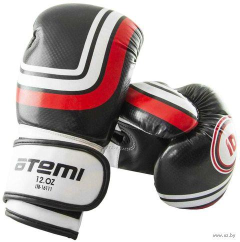 Перчатки боксёрские LTB-16111 (L/XL; чёрные; 12 унций) — фото, картинка
