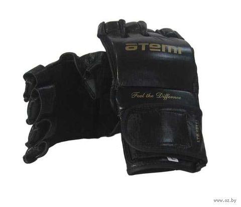 Перчатки для MMA LTB19111 (S; кожа; чёрные) — фото, картинка