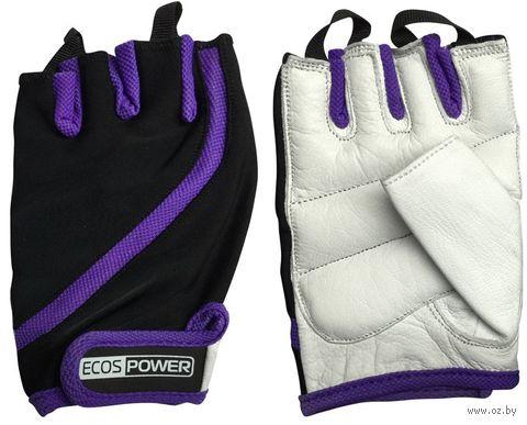 Перчатки для фитнеса 2311-VXL (XL; чёрный/белый/фиолетовый) — фото, картинка