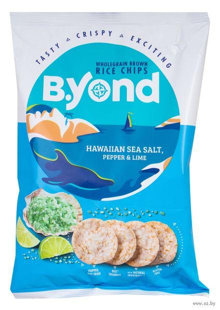 """Чипсы рисовые """"B.Yond. Со вкусом гавайской морской соли, перца и лайма"""" (70 г) — фото, картинка"""