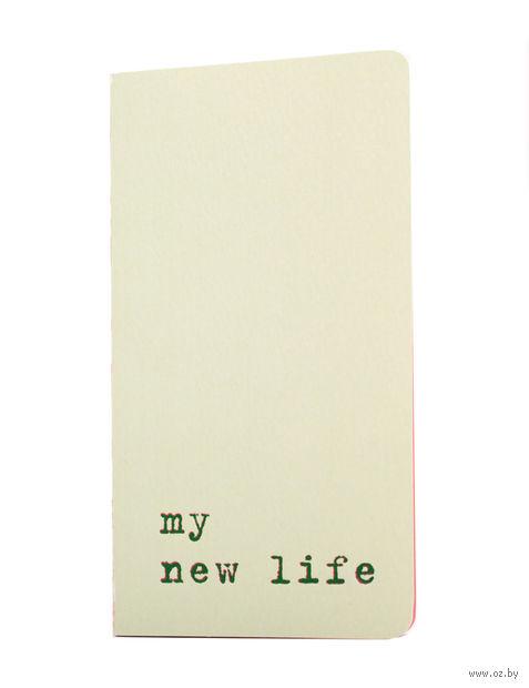 "Записная книжка в точку ""Chapter. My New Life"" (75х140 мм; зеленая) — фото, картинка"