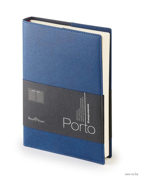 """Ежедневник полудатированный """"Porto"""" (А5; синий) — фото, картинка"""