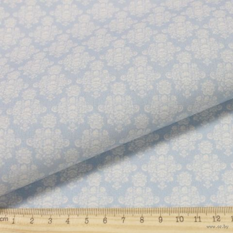 """Ткань """"Винтажные гортензии"""" №2 (серо-синяя) — фото, картинка"""