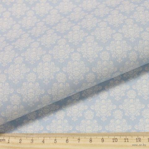 "Ткань ""Винтажные гортензии"" (48х50 см; серо-синий; арт. AM629017) — фото, картинка"