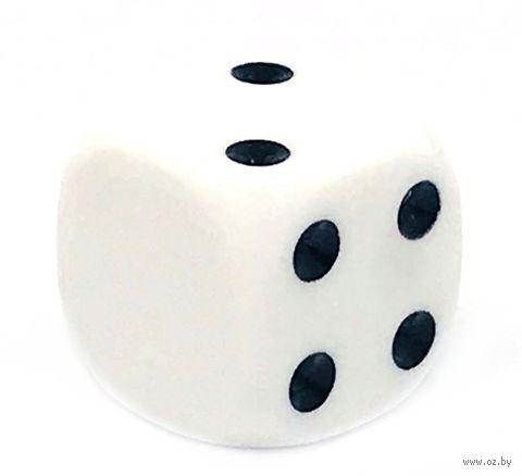 "Кубик D6 ""Пустой"" (16 мм; белый) — фото, картинка"