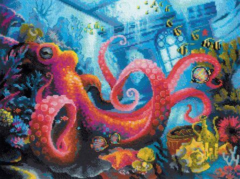 """Вышивка крестом """"Подводное царство"""" (400х300 мм) — фото, картинка"""