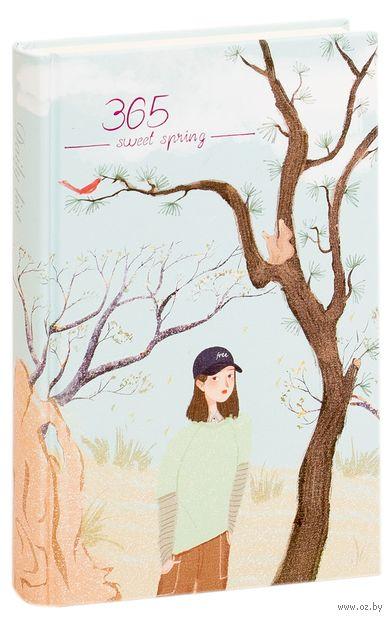"""Ежедневник недатированный """"365. Девушка у дерева"""" — фото, картинка"""