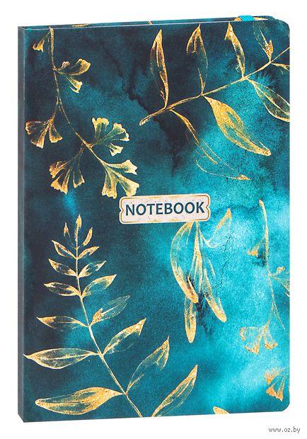 "Записная книжка в клетку ""Gold Floral Pattern"" (А5) — фото, картинка"