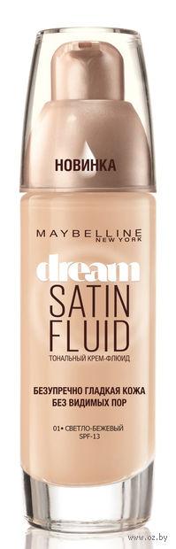 """Тональный крем-флюид для лица """"Dream Satin Fluid"""" (тон: 001, светло-бежевый)"""