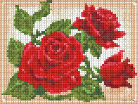 "Алмазная вышивка-мозаика ""Молодая роза"" (200х150 мм) — фото, картинка"