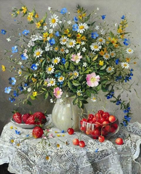 """Алмазная вышивка-мозаика """"Летняя композиция"""" (500х600 мм) — фото, картинка"""