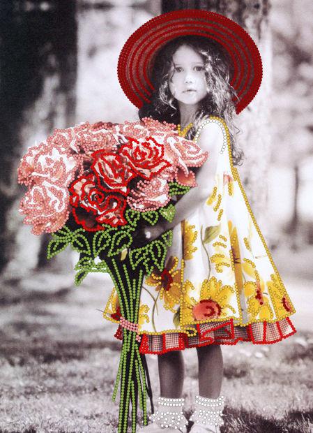 """Вышивка бисером """"Букет для маленькой дамы"""" (220х300 мм) — фото, картинка"""