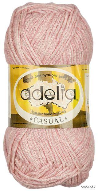 "Пряжа ""Adelia. Casual №6"" (50 г; 130 м; розовый) — фото, картинка"