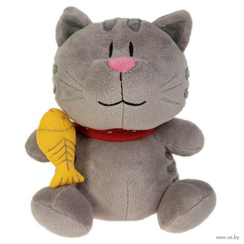 """Мягкая игрушка """"Кот Котофей с рыбкой в руке"""" (35 см)"""