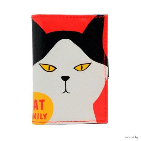 "Кредитница ""Cat Family"" (20 карточек; красная) — фото, картинка"