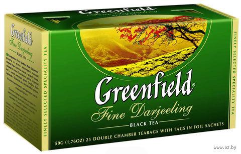 """Чай черный """"Greenfield. Fine Darjeeling"""" (25 пакетиков) — фото, картинка"""