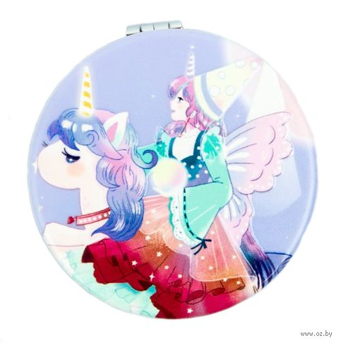 "Зеркало карманное ""Pretty unicorn"" — фото, картинка"