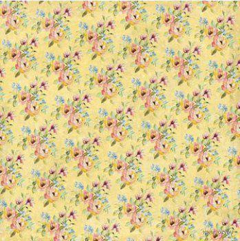 "Бумага для скрапбукинга ""Нежный букет. Желтые цветы"" (310х310 мм; 25 листов)"