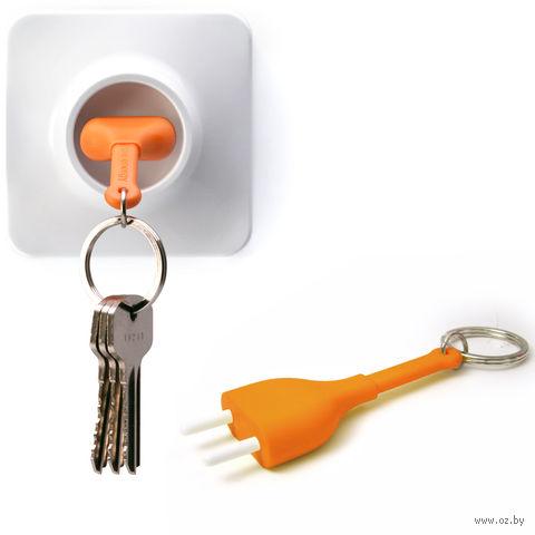 """Брелок и держатель для ключа """"Unplug"""" (оранжевый)"""