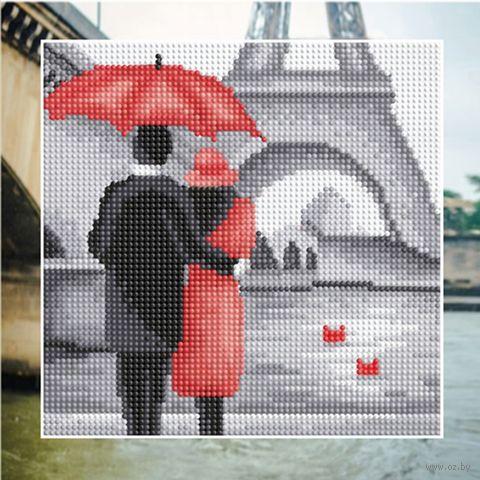 "Алмазная вышивка-мозаика ""Пара в Париже"" (250х250 мм) — фото, картинка"