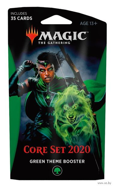 "Бустер ""Magic the Gathering. Core Set 2020. Green Theme Booster"" (35 карт) — фото, картинка"