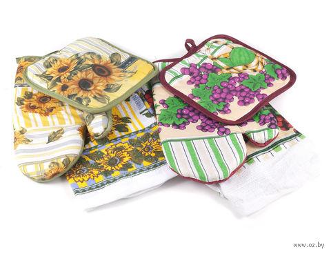 Набор кухонный матерчатый (3 предмета; арт. 5130-0003) — фото, картинка