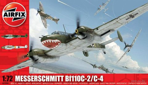 """Истребитель """"Messerschmitt Bf110C-2/C-4"""" (масштаб: 1/72) — фото, картинка"""
