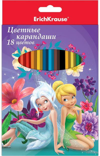 """Цветные карандаши """"Феи и невиданный зверь"""" (18 цветов)"""