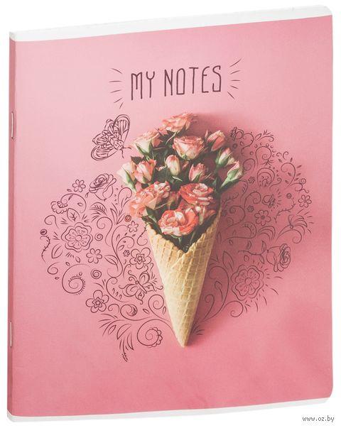"""Тетрадь полуобщая в клетку """"My Notes"""" (48 листов; в ассортименте) — фото, картинка"""