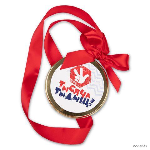 """Медаль шоколадная """"Тысяча тыдыщ!""""(70 г) — фото, картинка"""