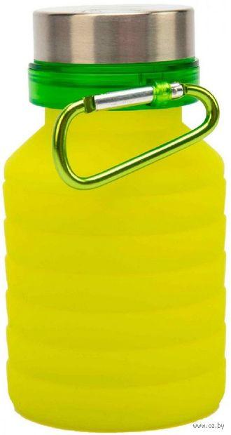 Бутылка для воды складная с карабином (500 мл) — фото, картинка