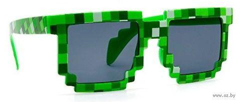 """Пиксельные очки в стиле """"Minecraft"""" (зеленые)"""