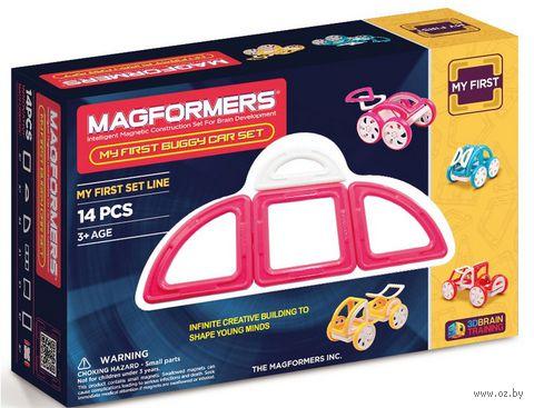 """Конструктор магнитный """"My First Buggy. Розовый"""" (14 деталей) — фото, картинка"""