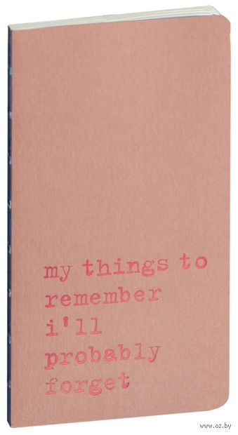 "Записная книжка в линейку ""Chapter. My Things to Remember"" (75х140 мм; розовая) — фото, картинка"