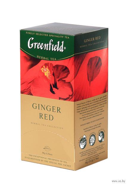 """Чай красный """"Greenfield. Ginger Red"""" (25 пакетиков) — фото, картинка"""