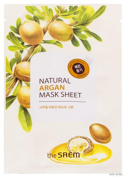 "Тканевая маска для лица ""Natural Argan Mask Sheet"" (21 мл) — фото, картинка"