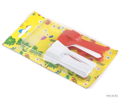 Набор ложек для мороженого пластмассовых (24 шт.; 8,5 см)