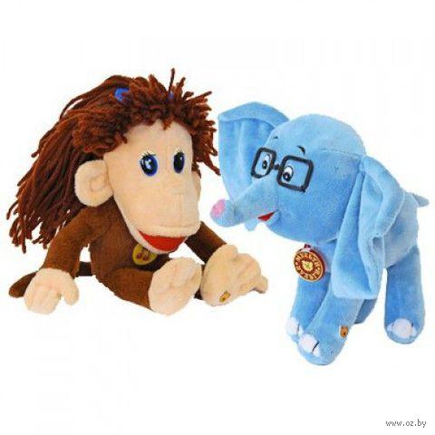 """Набор мягких игрушек """"Мартышка и Слоненок"""" (20 см) — фото, картинка"""