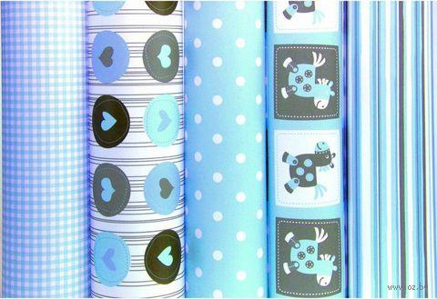 "Бумага подарочная в рулоне ""Baby blue"" (цвет: ассорти)"