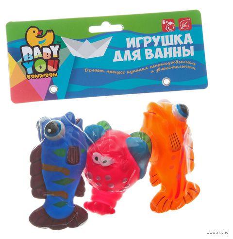 "Набор игрушек для купания ""Краб, рыбки"" — фото, картинка"