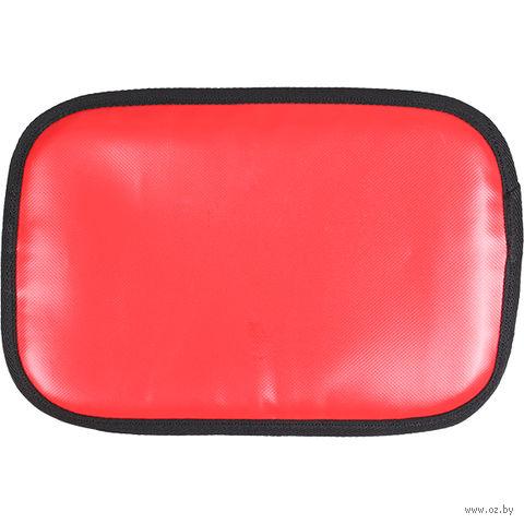 Сиденье туристическое обшитое ПВХ (красное) — фото, картинка
