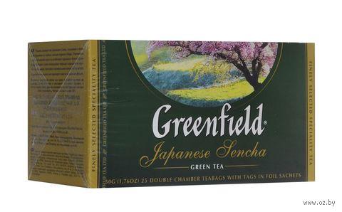 "Чай зеленый ""Greenfield. Japanese Sencha"" (25 пакетиков) — фото, картинка"